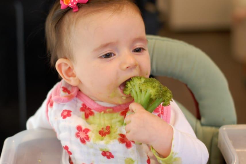 Бебе и зеленчуци